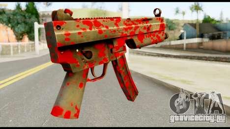 MP5 with Blood для GTA San Andreas второй скриншот