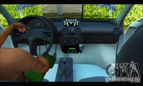Chevrolet Corsa Policia Bonaerense для GTA San Andreas вид изнутри