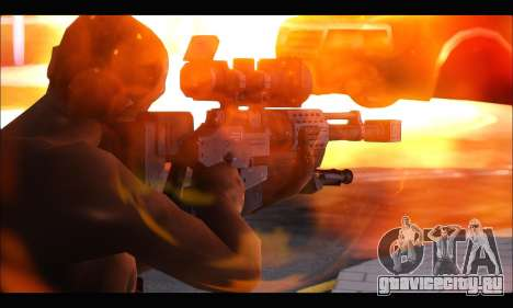 Raab KM50 Sniper Rifle From F.E.A.R. 2 для GTA San Andreas второй скриншот