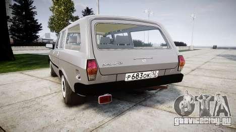 ГАЗ 31022 rims2 для GTA 4 вид сзади слева