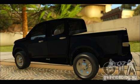 Chevrolet S10 LS 2013 для GTA San Andreas вид сзади слева