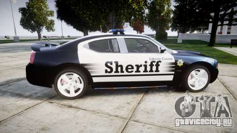 Dodge Charger SRT8 2010 Sheriff [ELS] для GTA 4 вид слева