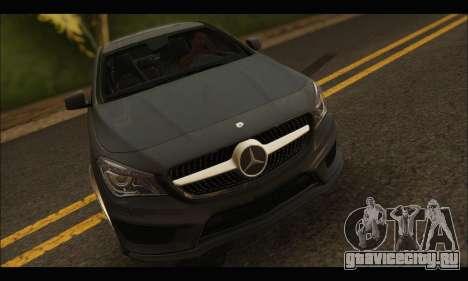 Mercedes Benz CLA 250 2014 для GTA San Andreas вид сзади
