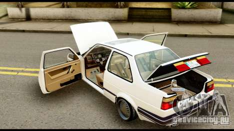 Volkswagen Jetta A2 Coupe для GTA San Andreas вид сзади