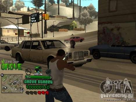 C-HUD Grove Street для GTA San Andreas четвёртый скриншот