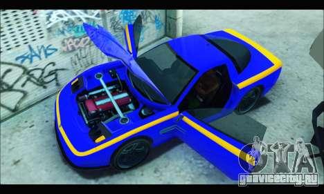 Coquette (GTA IV) для GTA San Andreas вид справа