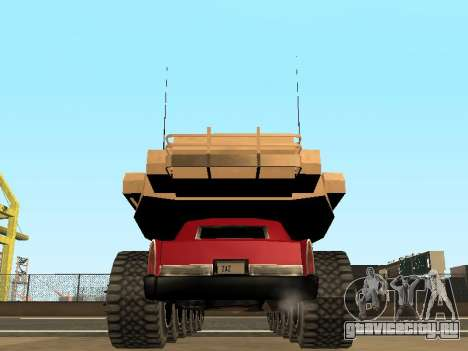 Tink Tank для GTA San Andreas вид изнутри