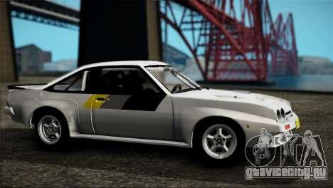 Opel Manta 400 для GTA San Andreas вид сзади слева