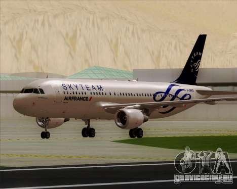 Airbus A320-200 Air France Skyteam Livery для GTA San Andreas вид слева
