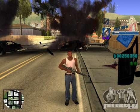 C-HUD Old Rifa для GTA San Andreas третий скриншот
