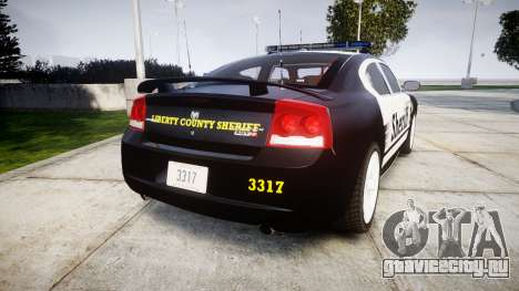 Dodge Charger SRT8 2010 Sheriff [ELS] rambar для GTA 4 вид сзади слева