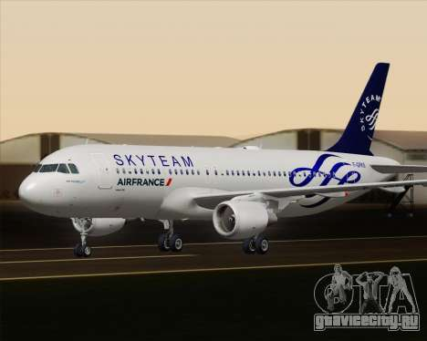 Airbus A320-200 Air France Skyteam Livery для GTA San Andreas вид сверху