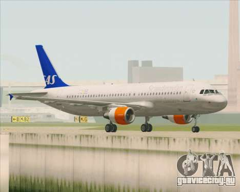 Airbus A320-200 Scandinavian Airlines - SAS для GTA San Andreas вид справа