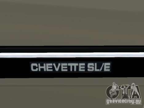 Chevrolet Chevette Hatch для GTA San Andreas вид сверху
