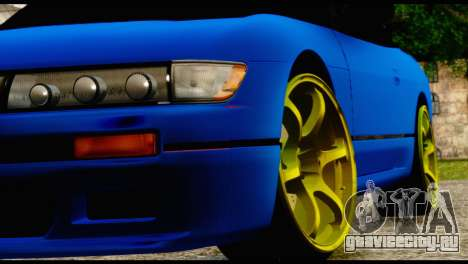 Nissan Silvia S13 Sileighty Drift Moster для GTA San Andreas вид сзади