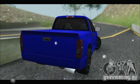 Chevrolet Colorado Codered 2004 для GTA San Andreas вид сзади слева