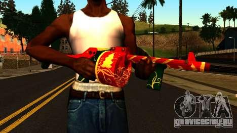 Новогодний Дробовик для GTA San Andreas третий скриншот