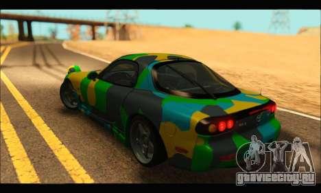 Mazda RX-7 Camo для GTA San Andreas вид слева