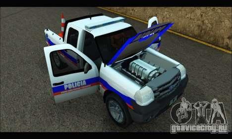 Ford Ranger 2011 Patrulleros CPC для GTA San Andreas вид справа