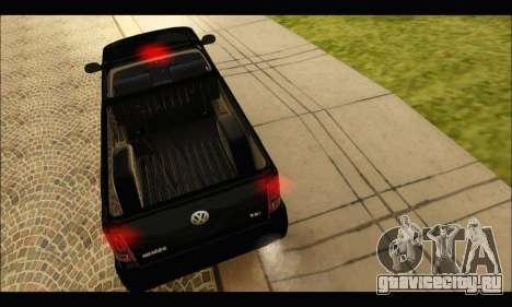 Volkswagen Amarok Cabina Simple для GTA San Andreas вид справа