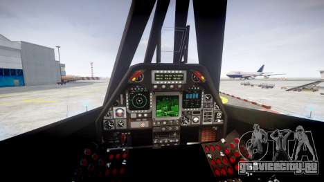 Lockheed F-117 Nighthawk для GTA 4 вид сзади слева