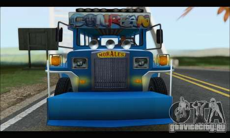 Jeepney Morales для GTA San Andreas вид сзади