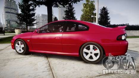 Pontiac GTO 2006 18in wheels для GTA 4 вид слева