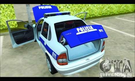 Chevrolet Corsa Policia Bonaerense для GTA San Andreas вид справа