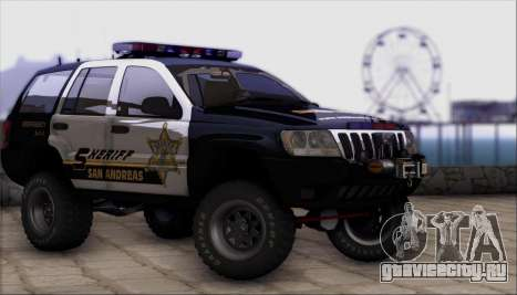 Jeep Grand Cherokee 1999 Sheriff для GTA San Andreas