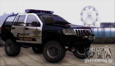 Jeep Grand Cherokee 1999 Sheriff для GTA San Andreas