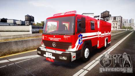 Mercedes-Benz Atego Indonesian Fire Truck [ELS] для GTA 4