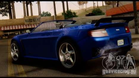 GTA 5 Dewbauchee Rapid GT Cabrio [HQLM] для GTA San Andreas вид сзади слева