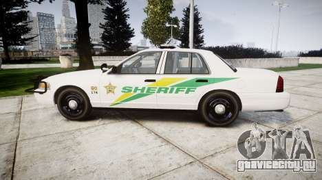 Ford Crown Victoria Martin County Sheriff [ELS] для GTA 4 вид слева