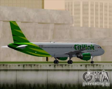 Airbus A320-200 Citilink для GTA San Andreas вид сзади
