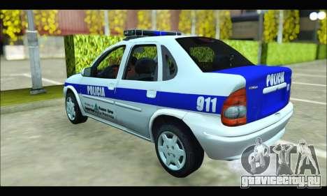 Chevrolet Corsa Policia Bonaerense для GTA San Andreas вид сзади слева