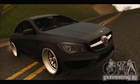 Mercedes Benz CLA 250 2014 для GTA San Andreas вид изнутри