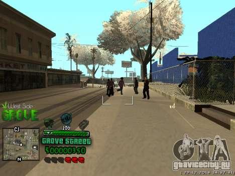 C-HUD Grove Street для GTA San Andreas пятый скриншот