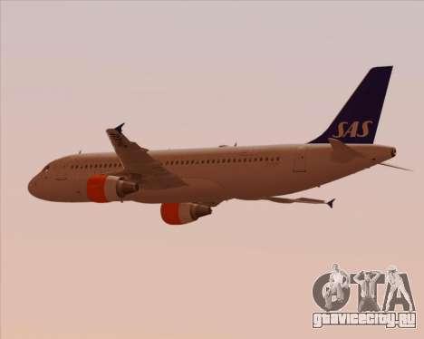 Airbus A320-200 Scandinavian Airlines - SAS для GTA San Andreas вид изнутри