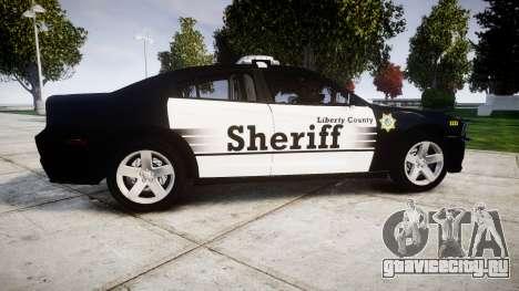 Dodge Charger 2013 County Sheriff [ELS] v3.2 для GTA 4 вид слева