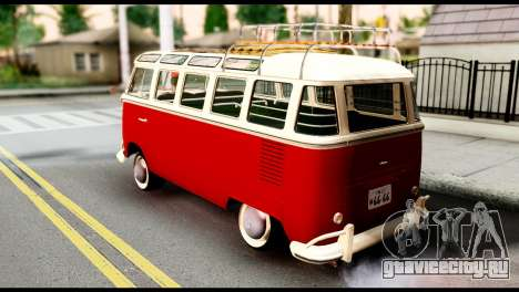 Volkswagen T1 для GTA San Andreas вид слева