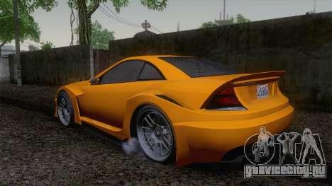Benefactor Feltzer GTA V для GTA San Andreas вид слева
