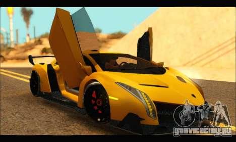 Lamborghini Veneno 2013 HQ для GTA San Andreas вид справа