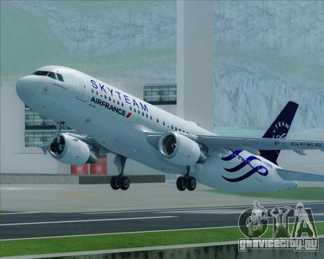 Airbus A320-200 Air France Skyteam Livery для GTA San Andreas