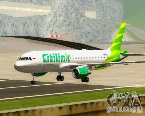 Airbus A320-200 Citilink для GTA San Andreas вид слева
