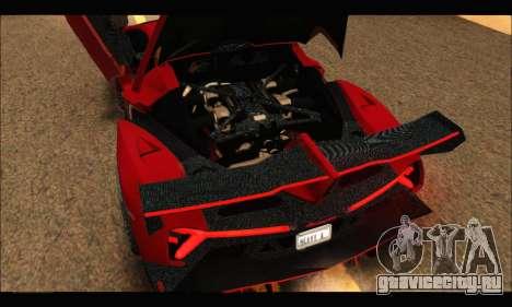Lamborghini Veneno 2013 HQ для GTA San Andreas вид изнутри