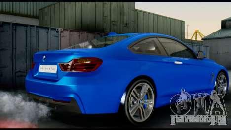 BMW 4-Series Coupe M Sport 2014 для GTA San Andreas вид слева