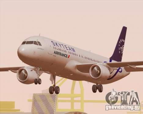 Airbus A320-200 Air France Skyteam Livery для GTA San Andreas колёса