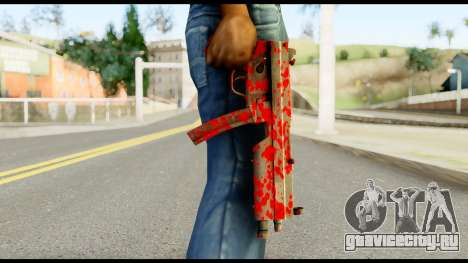 MP5 with Blood для GTA San Andreas третий скриншот