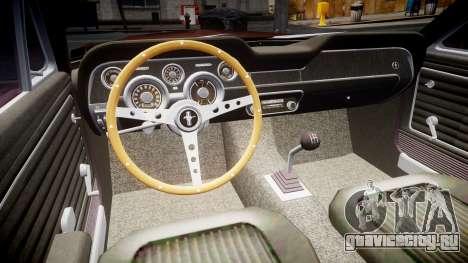 Ford Mustang GT Fastback 1968 для GTA 4 вид сзади