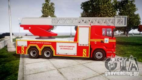 Scania R580 Marseille Fireladder [ELS] для GTA 4 вид слева